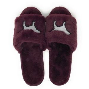 PINk Victoria's Secret Fluffy Dog Slippers